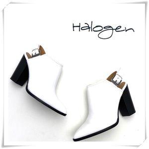 Halogen Brooke Slingback Stacked Heel Mule White
